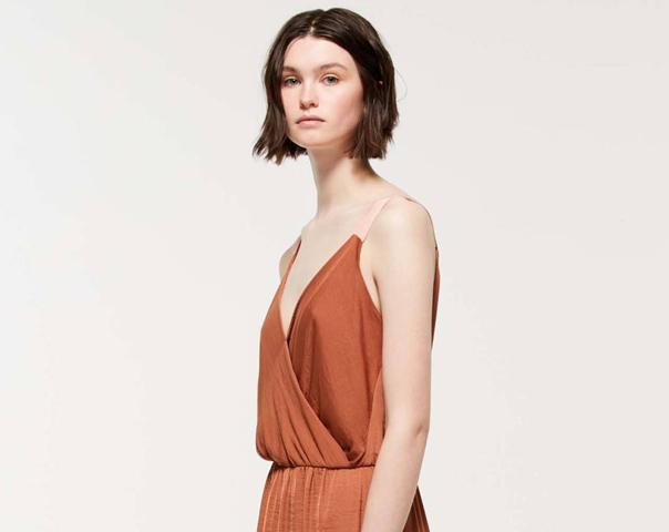 Longline dress in stockinette stitch