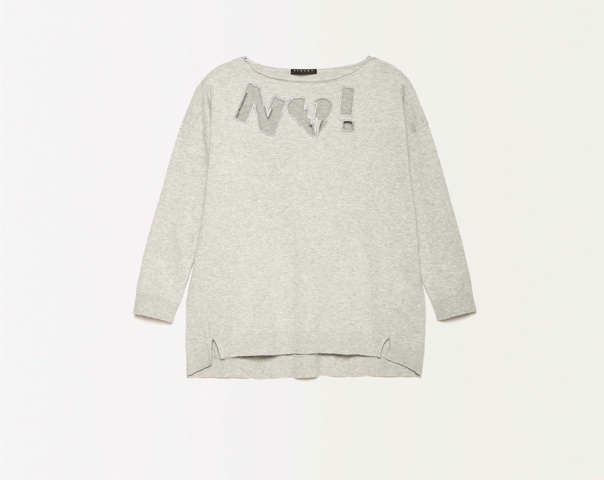 Sweater with mesh inserts