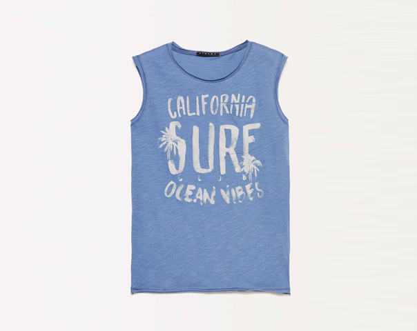 Tank top with text print